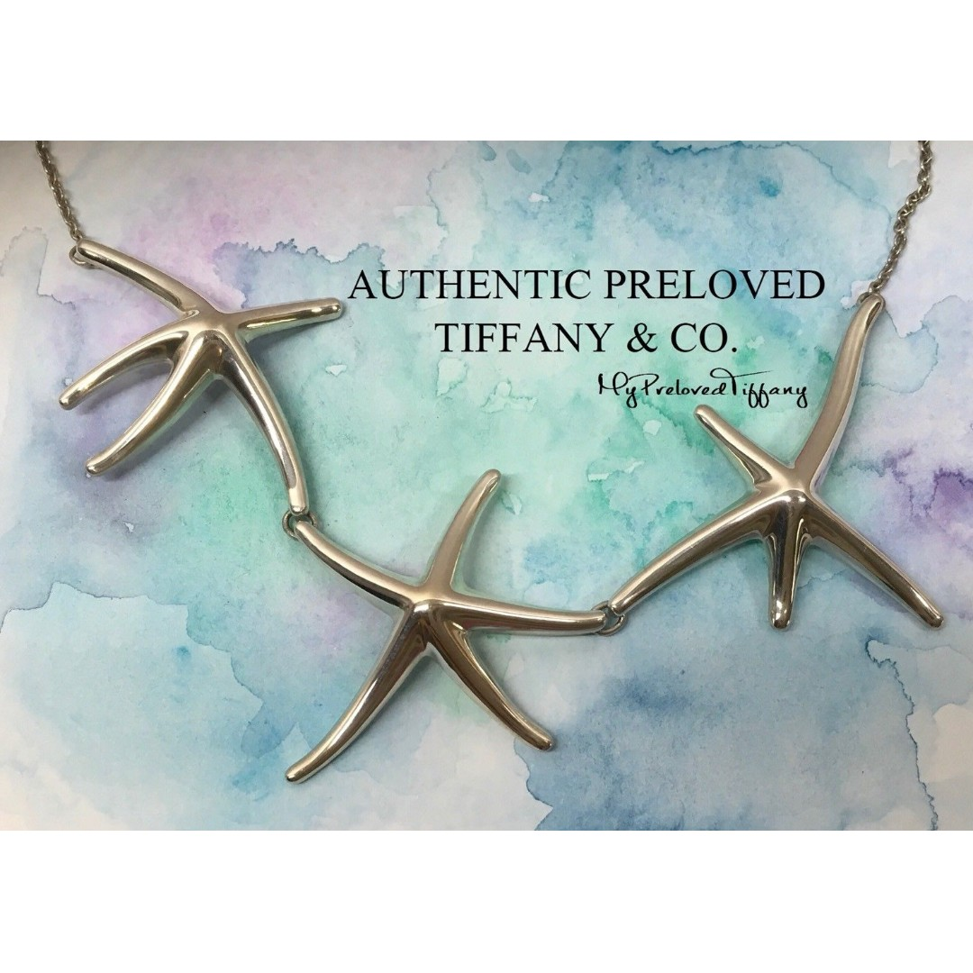 9e66021af9c4 Excellent Authentic Tiffany   Co. Elsa Peretti Triple Starfish ...