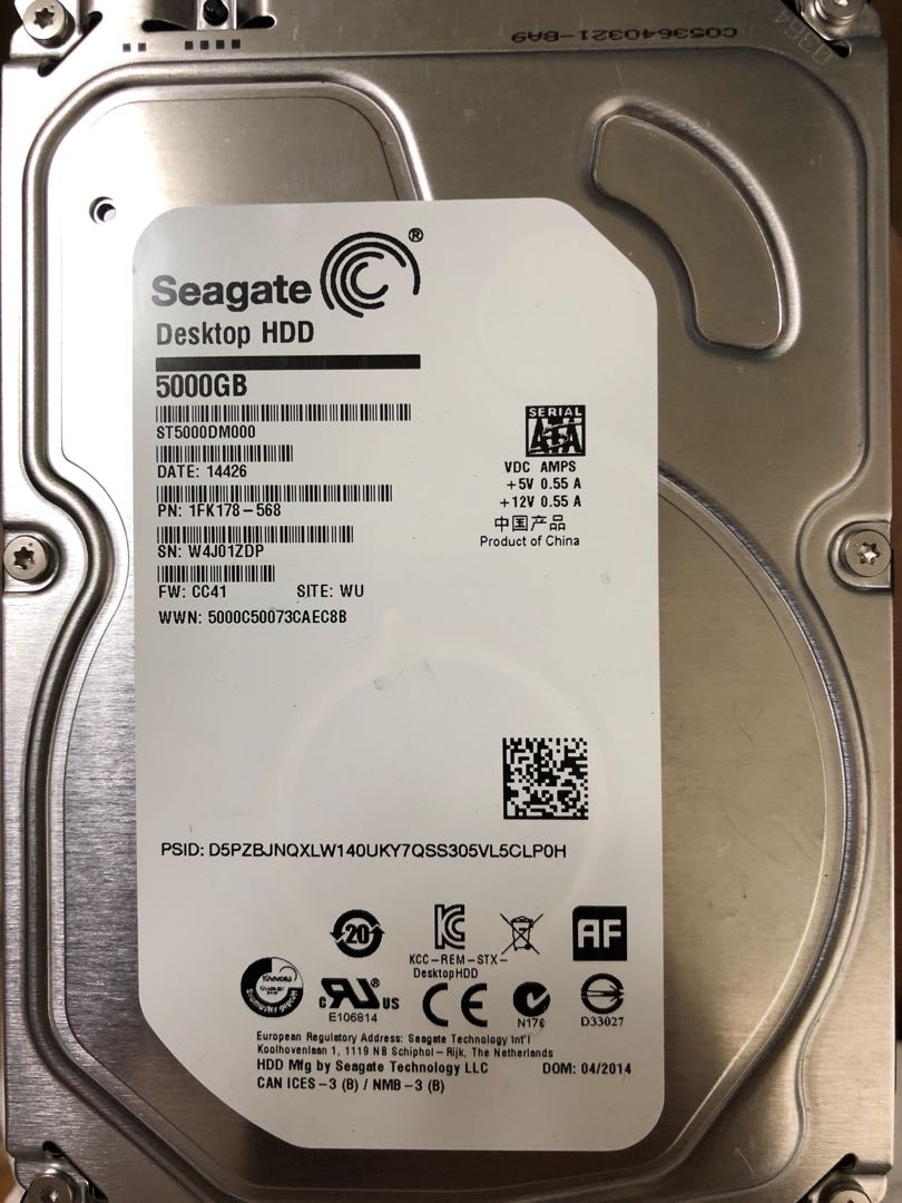 FAULTY Seagate 5TB  ST5000DM000, Electronics, Computer Parts
