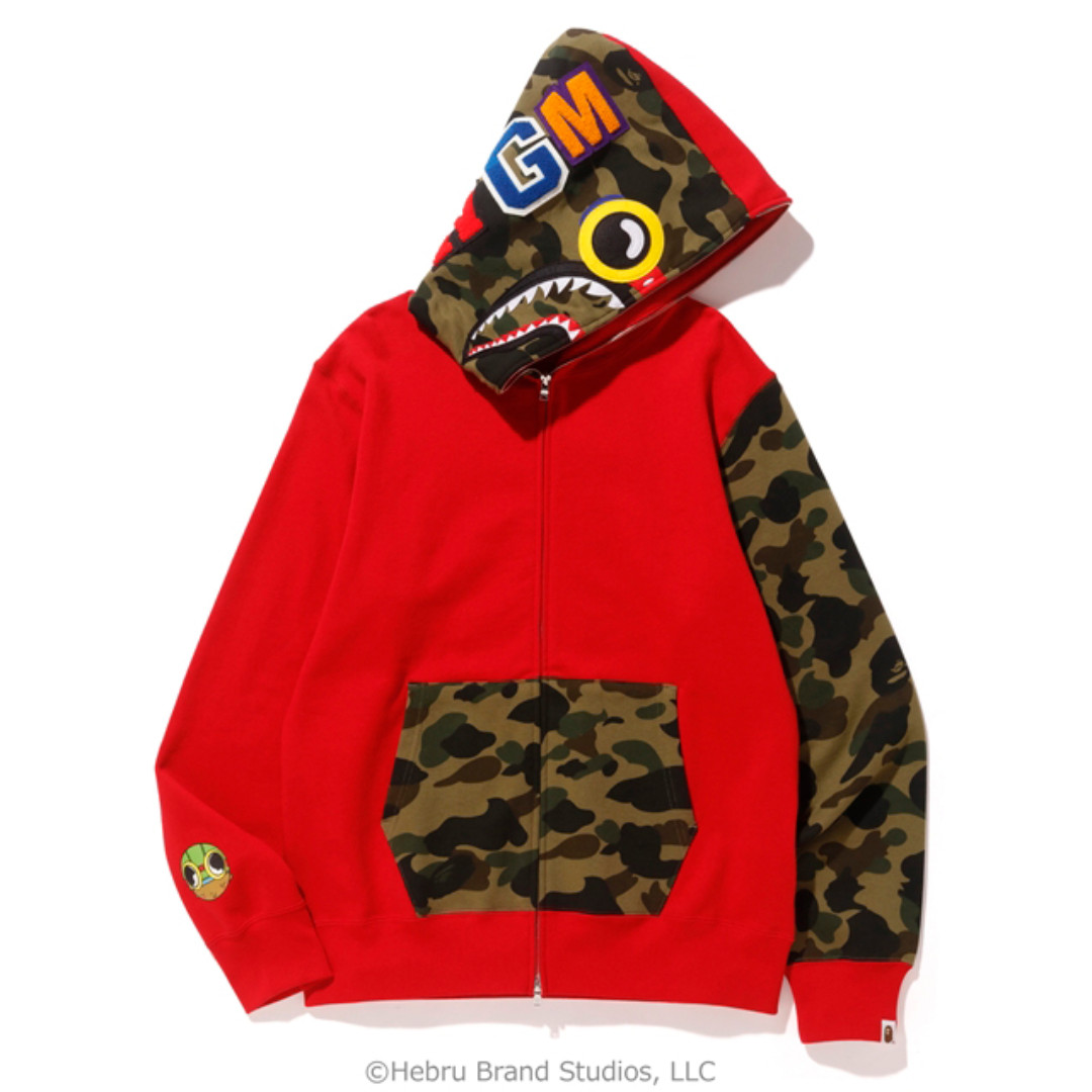 706caa8fbc14 Hebru Brantley X BAPE Flyboy Shark Full Zip Hoodie