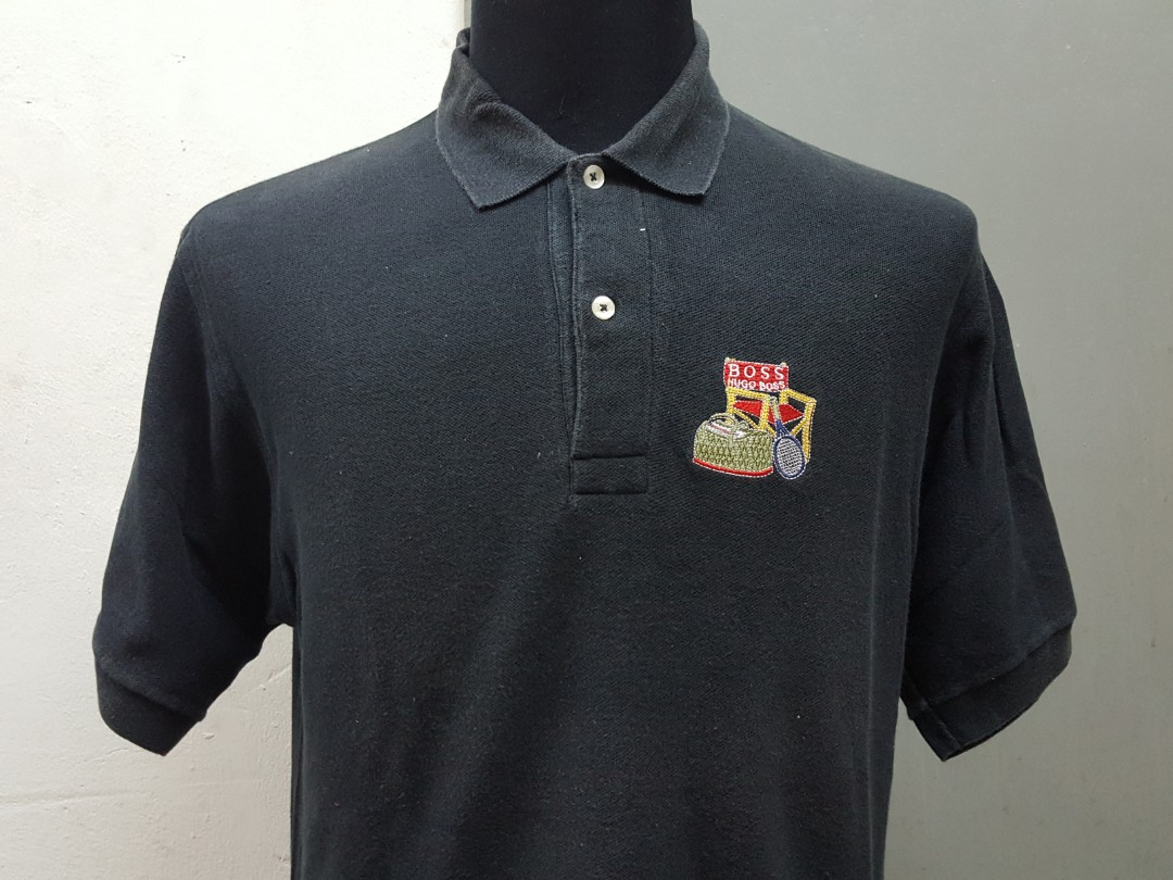 1bbd59703 Hugo Boss Boss Polo Shirt L, Fesyen Lelaki, Pakaian, Baju Lelaki di  Carousell