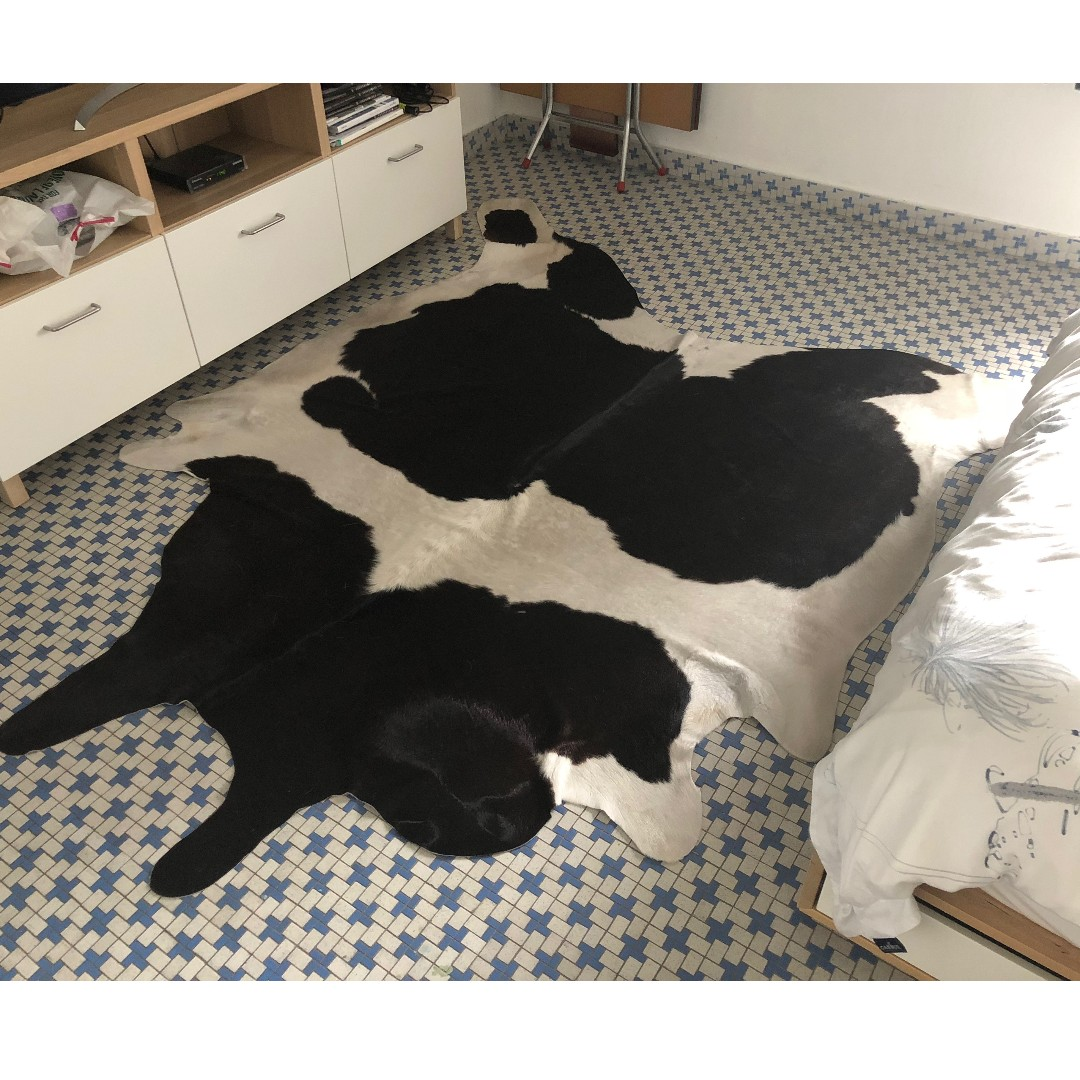 IKEA Koldby cow hide rug (real