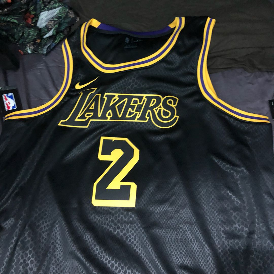 8bf9f817747b6 LAKERS LONZO BALL JERSEY BLACK MAMBA EDITION