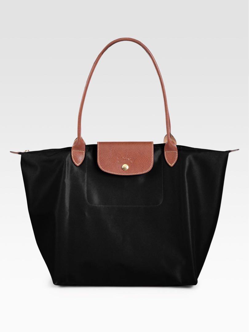ced3907d7b0d Longchamp Le Pliage Shoulder Tote Bag (LARGE BLACK)