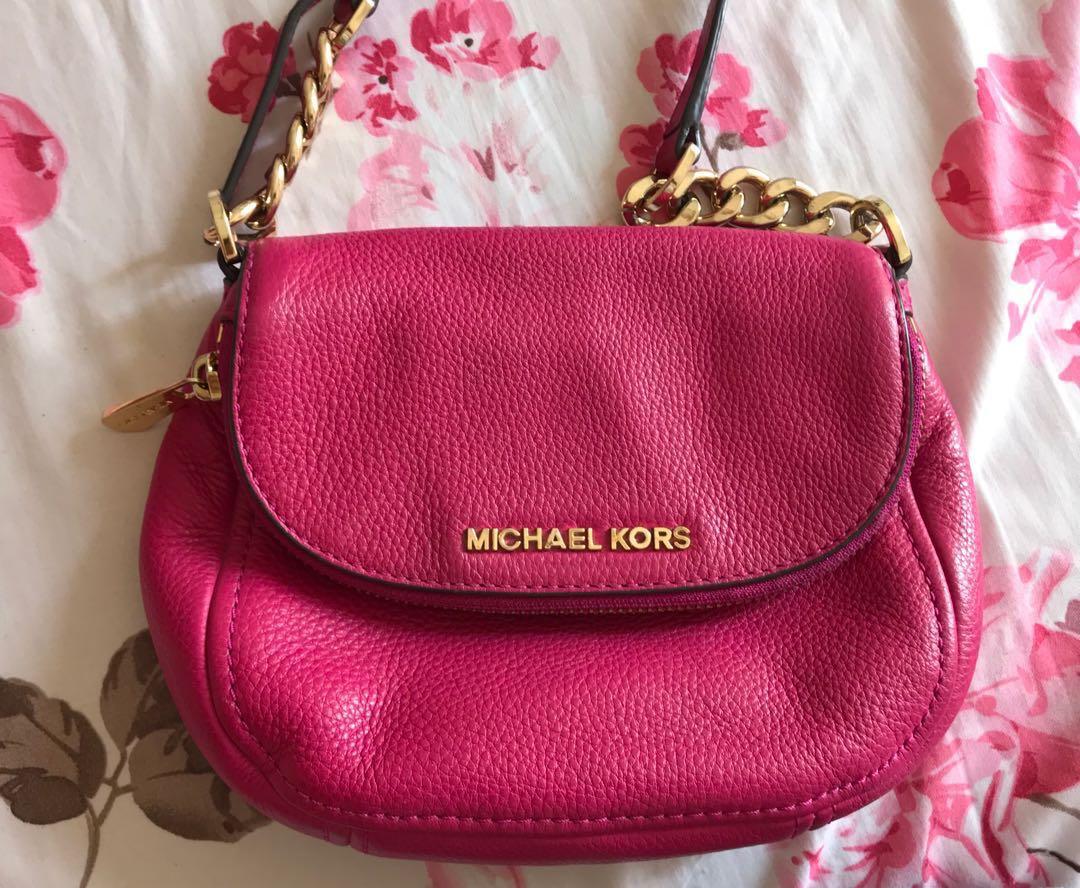 a54bc51f349a1b Michael Kors Bedford Flap Leather Cross-body bag, Women's Fashion ...