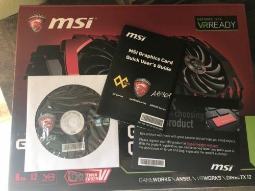 MSI GTX 1080 TI GAMING X 11GB GDDR5X Video Graphic Cards