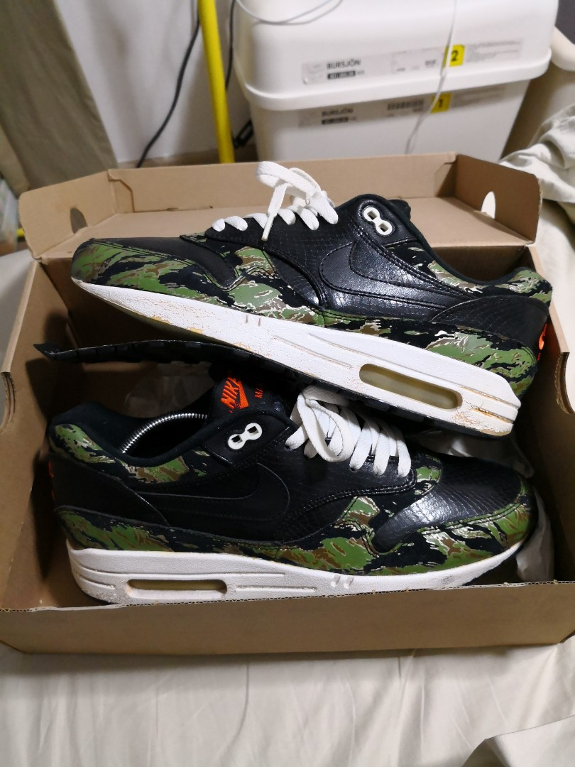 competitive price e7fb9 2bdd3 Nike Air Max 1 x Atmos Tiger Camo, Men s Fashion, Footwear, Sneakers on  Carousell