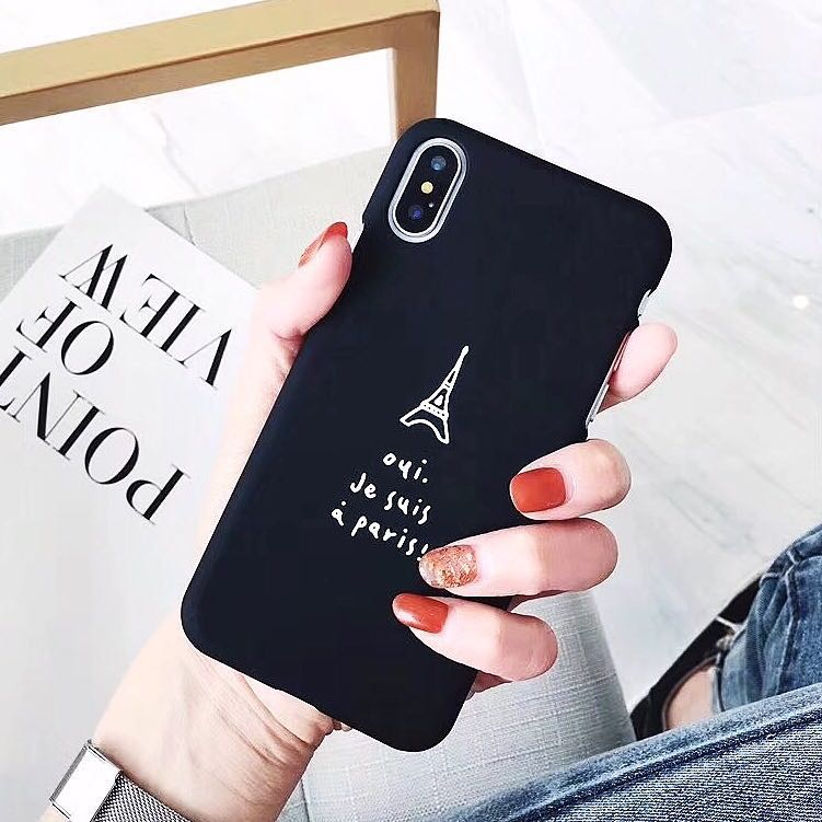PO) Paris Eiffel Tower Icon French Words iPhone Casing