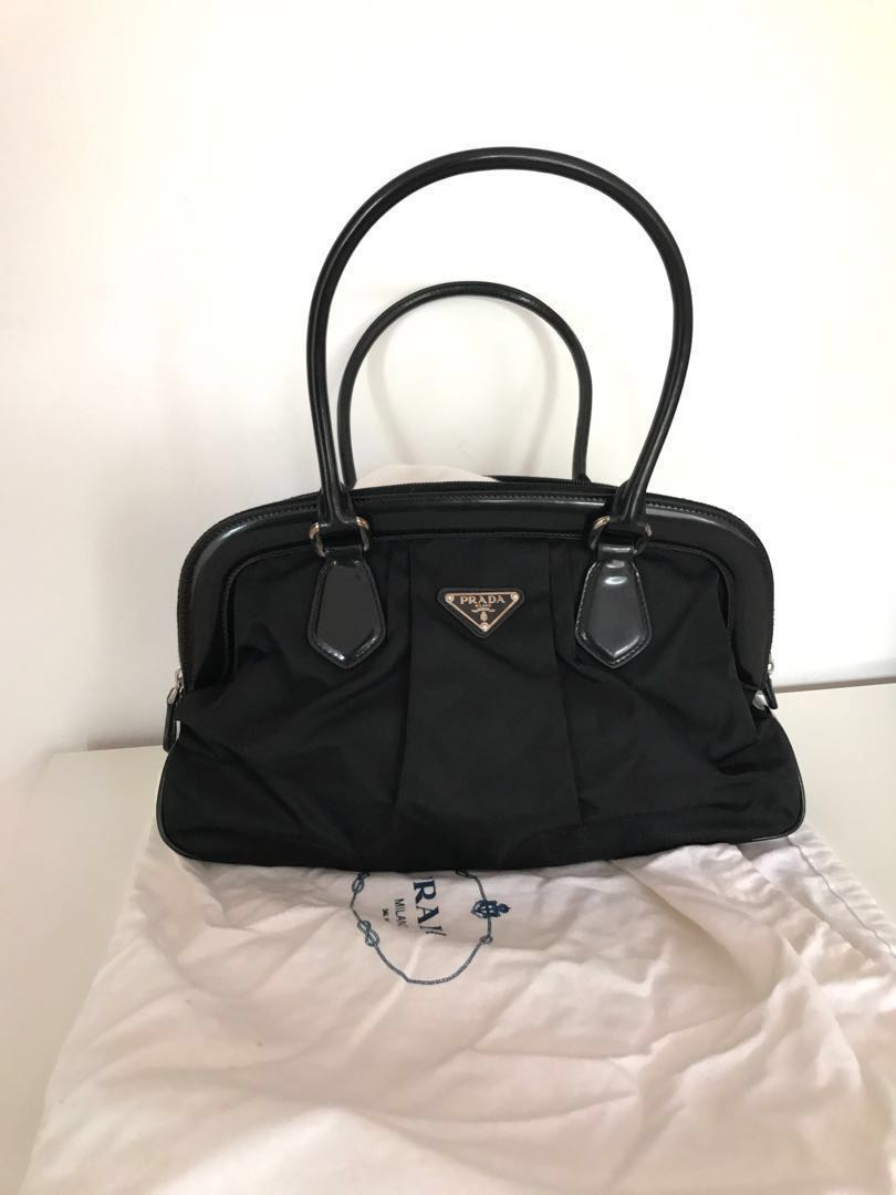 2d42a165b029 PRADA CANVAS/LEATHER DOCTOR BAG IN BLACK, Luxury, Bags & Wallets ...