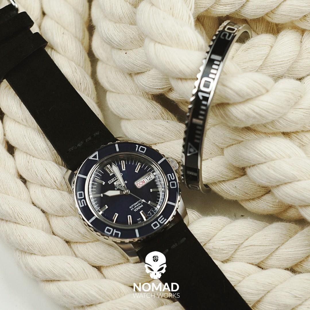 c6f3a418a Premium Vintage Suede Leather Watch Strap in Black, Men's Fashion ...