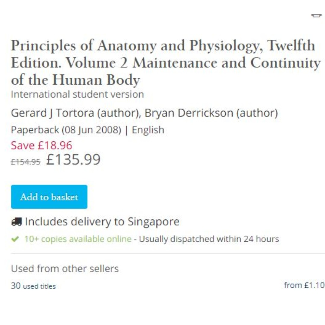 Principles of Anatomy and Physiology, Twelfth Edition. Volume 2 ...