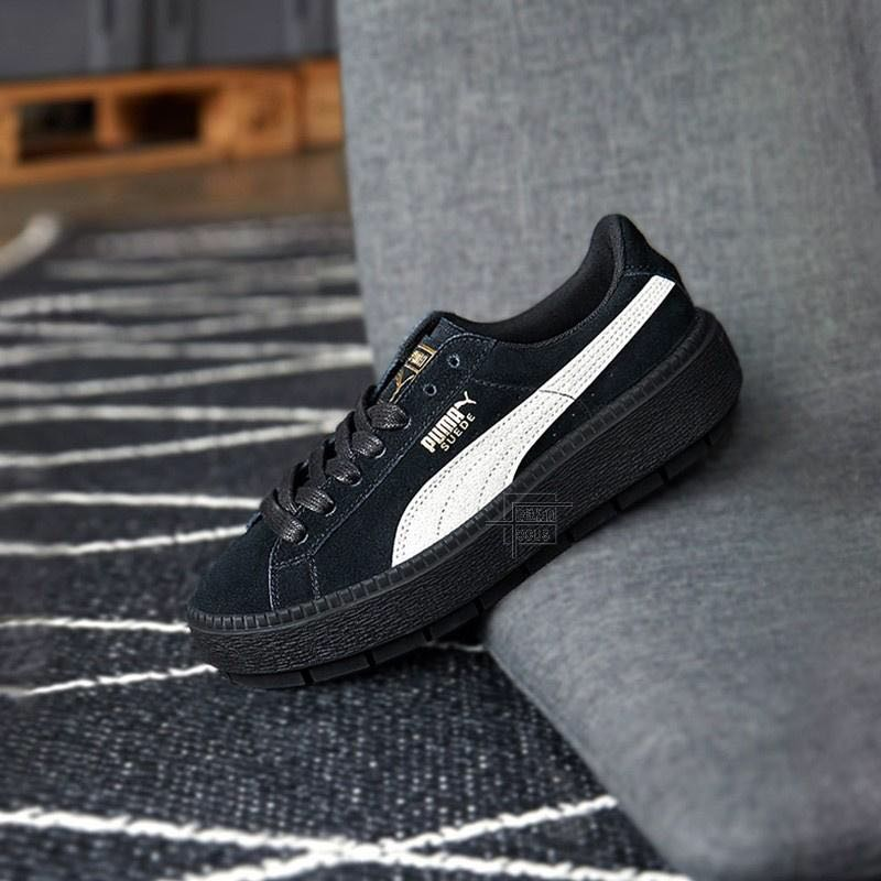 "authentic quality los angeles best selection of 2019 Puma Suede PLATFORM TRACE ""Black & White"""