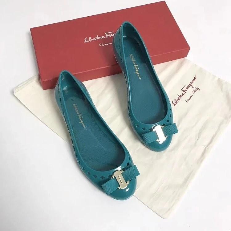 32cd8f19604 Salvatore Ferragamo Vara Bow Jelly Ballet Flat FW18