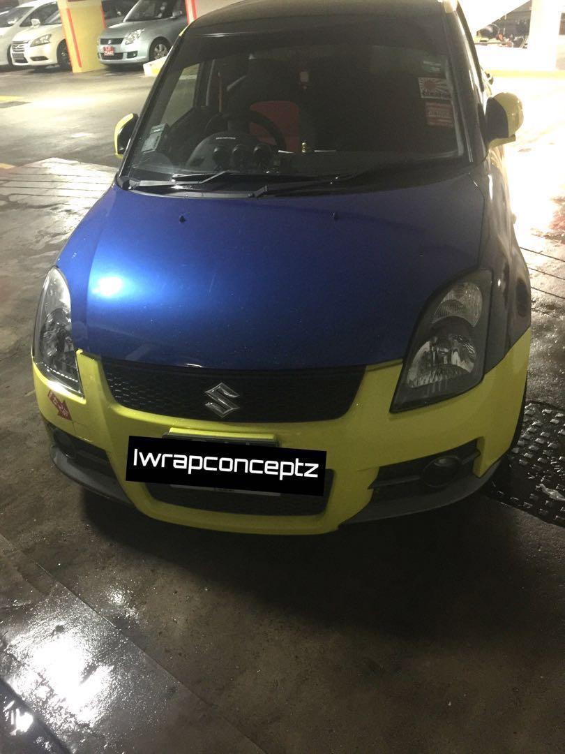 Suzuki swift sport carbon wrap!, Car Accessories