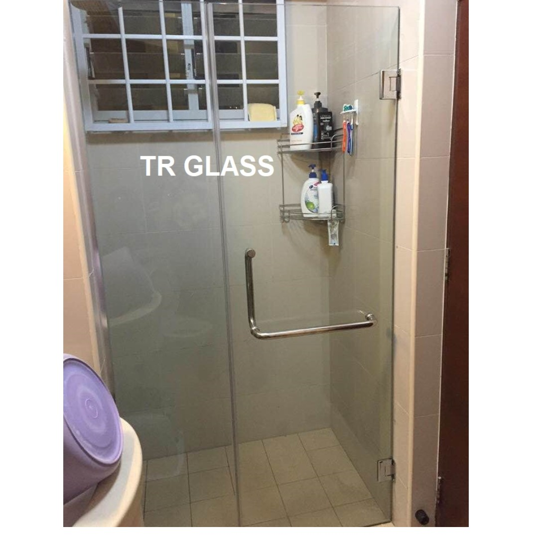 Swing Shower Screen Tempered Glass 1 Door 1 Fix Furniture Home