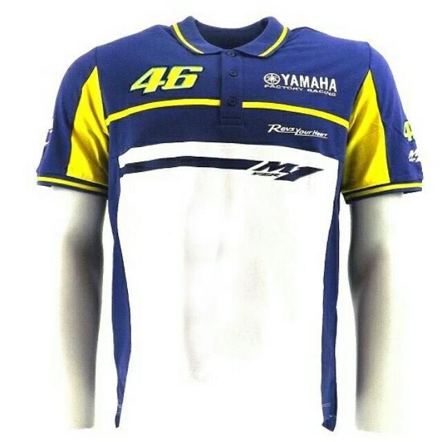 Vr46 Valentino Rossi Polo Shirt Collar Blue The Doctor For Yamaha M1