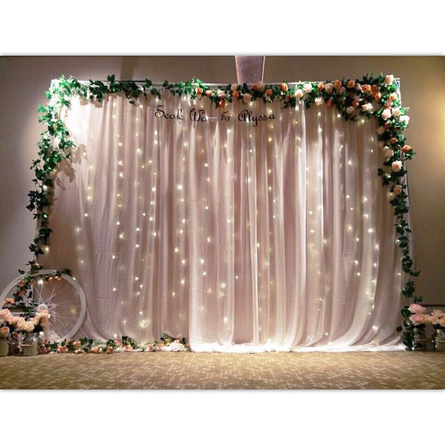 Wedding Photobooth Backdrop Setup Design Craft Others On Carousell