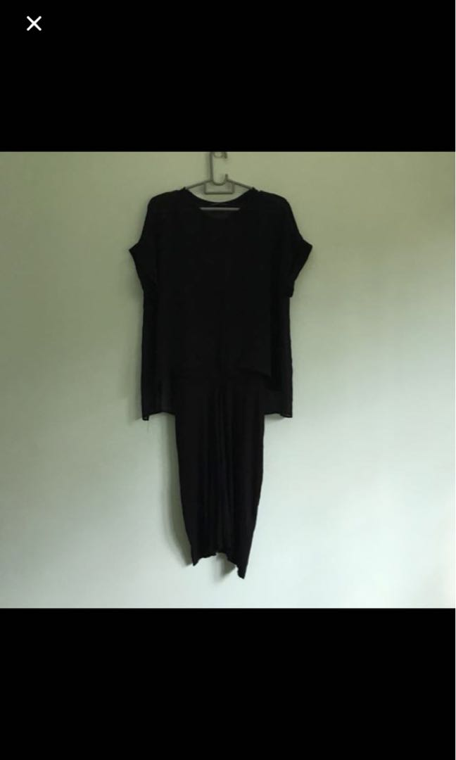 f5276a1005 Zara black 2 layer dress