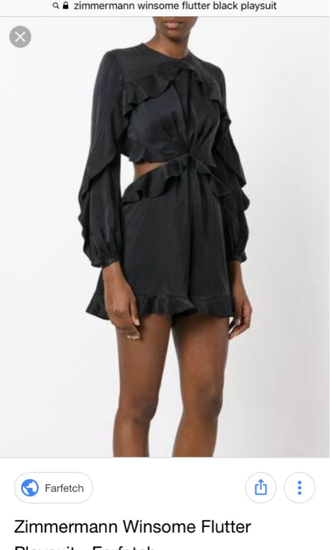 eb62fa9000 Zimmermann Winsome Flutter playsuit Black