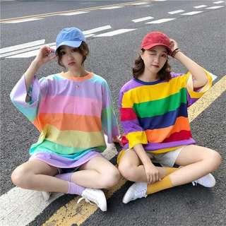 Rainbow mini dress