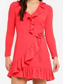 Forever New Bamby Wrap Frill Dress