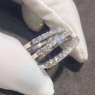 18K金鑽石排戒戒指