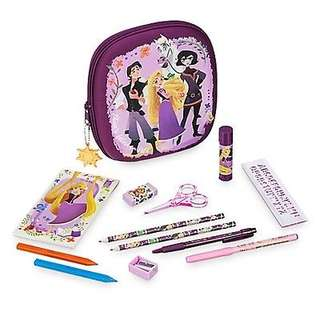 Disneyland Rapunzel princess zip up stationery kit set