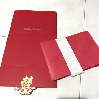 Wedding invitation chinese with red envelop
