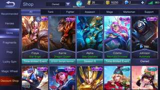 MOBILE LEGEND(IOS) SALE OR SWAP WITH ANDROID ACC