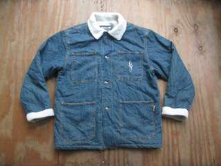 Jaket sherpa denim