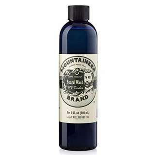 [IN-STOCK] Mountaineer Brand Beard Wash All-Natural beard shampoo - Cleans and Conditions (8 ounce, WV Timber )