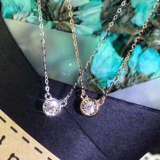 經典18K金鑽石泡泡頸鏈