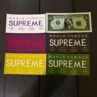 Supreme Stickers 6 pcs 1 set (HK AAA)
