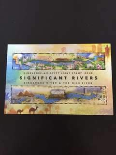 Singapore- AR Egypt Joint Stamp Significant Rivers Miniature Sheet