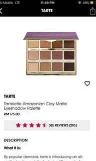 (Authentic) Tartelette Eyeshadow Palette