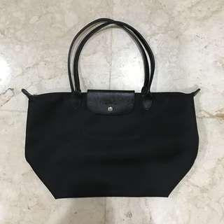 Longchamp Le Pliage Neo Tote Bag in Black