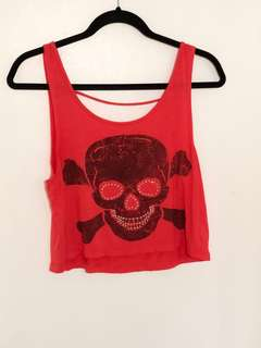 Cropped Top (Skull)