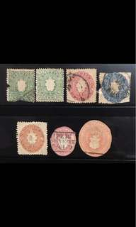 Saxony very early stamps lot used group
