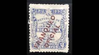 Nicaragua early stamps Overprint