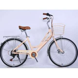 "Crolan 24"" Lady City Bike *vintage design ☆ Shimano 7 Speeds ☆ Brand new Bicycles"