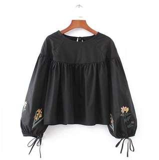 Black Sleeves Top