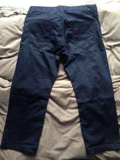 Muji Capri navy, size30, not h&M Zara Uniqlo