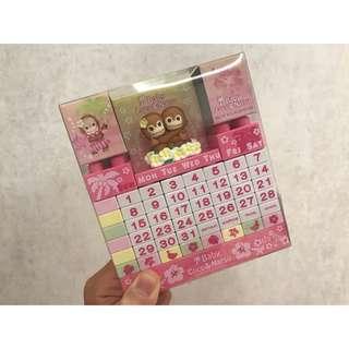 🚚 日本baby coco&natsu 積木萬年曆