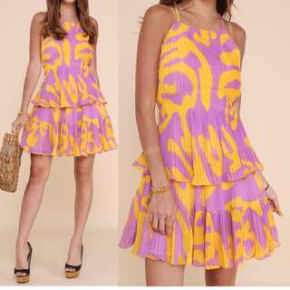 BN Abstract Pleated Dress (UK 6-8)