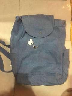 Baggu Denim Drawstring Backpack