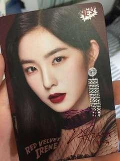 Red Velvet Irene 簽卡yes card