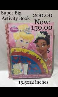 SALE!!!! Disney Princess activity book