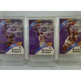 Michael Jordan NBA Trading Card - 1997-98 Ultra - Star Power Inserts 3-Card Set