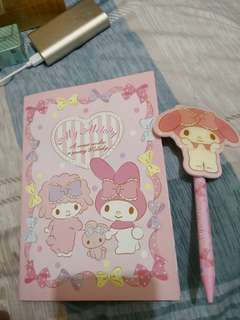 My Melody韓國買 筆加簿
