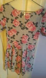 Floral Fan Dress