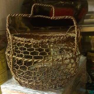 Vintage Nyonya egg basket